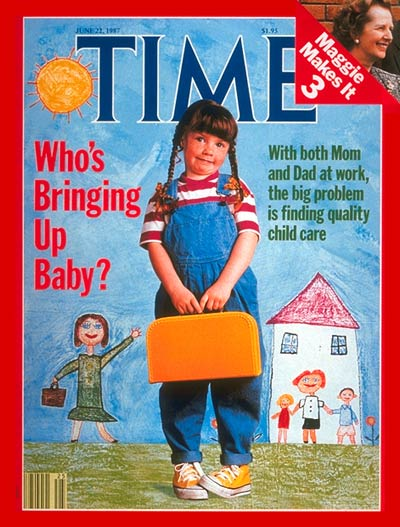 TIME Magazine Cover: Child Care -- June 22, 1987