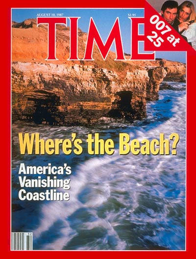 TIME Magazine Cover: America's Vanishing Coastline -- Aug. 10, 1987
