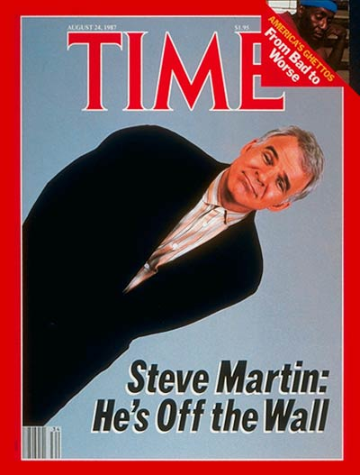 TIME Magazine Cover: Steve Martin -- Aug. 24, 1987