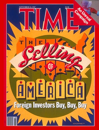 TIME Magazine Cover: America for Sale -- Sep. 14, 1987