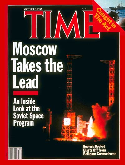 TIME Magazine Cover: Soviet Space Program -- Oct. 5, 1987