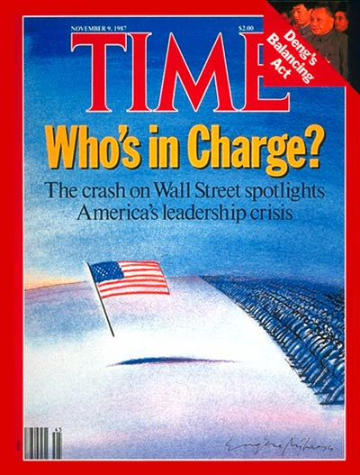 TIME Magazine Cover: America's Leadership Crisis -- Nov. 9, 1987