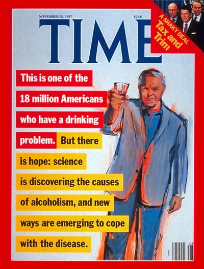 TIME Magazine Cover: Alcoholism -- Nov. 30, 1987