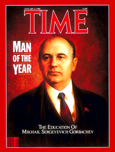 TIME Magazine Cover: Mikhail Gorbachev, Man of the Year -- Jan. 4, 1988