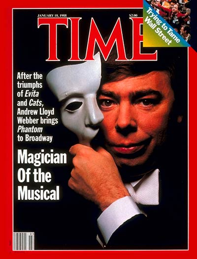 TIME Magazine Cover: Andrew Lloyd Webber -- Jan. 18, 1988