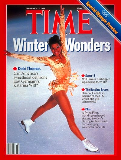TIME Magazine Cover: Debi Thomas -- Feb. 15, 1988
