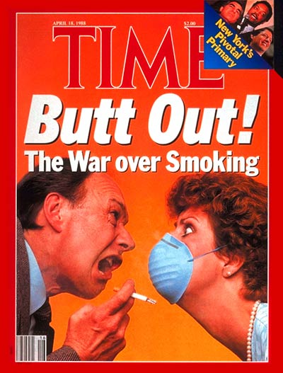 TIME Magazine Cover: War Over Smoking -- Apr. 18, 1988