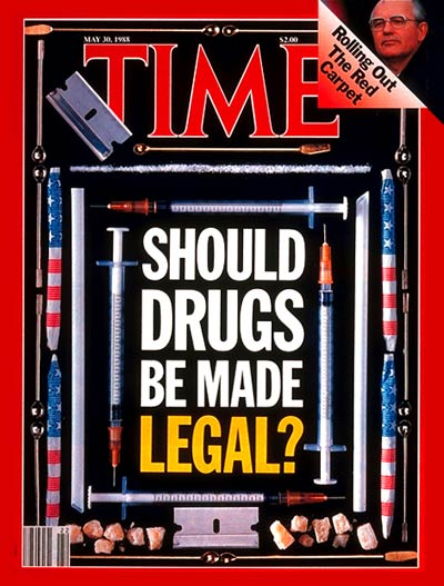 TIME Magazine Cover: Legalizing Drugs -- May 30, 1988