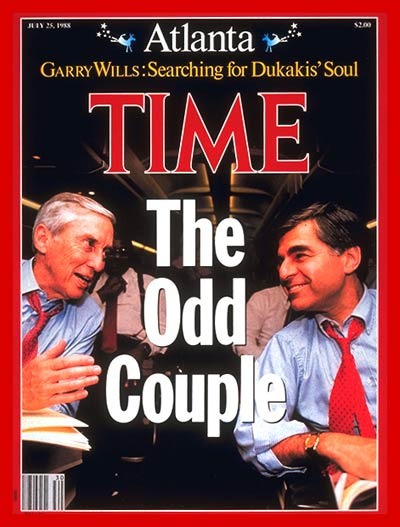 TIME Magazine Cover: Lloyd Bentsen & Michael Dukakis -- July 25, 1988