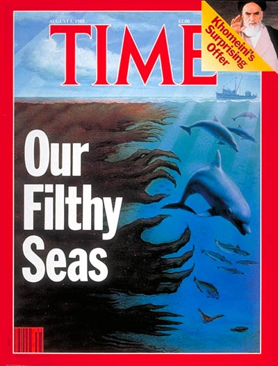 TIME Magazine Cover: Ocean Pollution -- Aug. 1, 1988