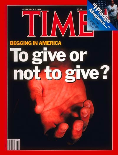 TIME Magazine Cover: Begging in America -- Sep. 5, 1988
