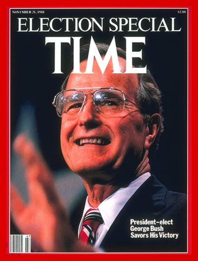 TIME Magazine Cover: George H. W. Bush -- Nov. 21, 1988