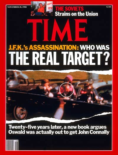 TIME Magazine Cover: J.F.K.'s Assassination -- Nov. 28, 1988