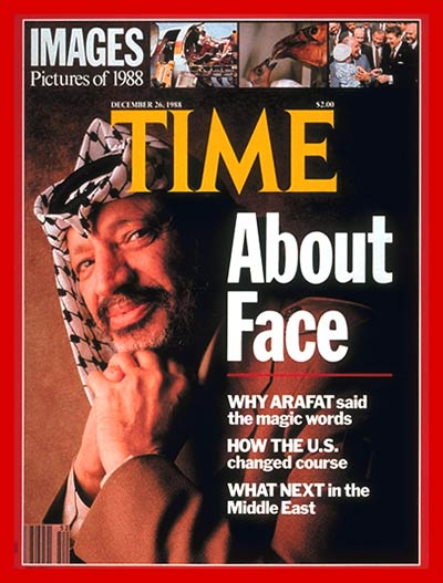 TIME Magazine Cover: Yasser Arafat -- Dec. 26, 1988