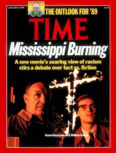 TIME Magazine Cover: Gene Hackman & Willem Dafoe -- Jan. 9, 1989