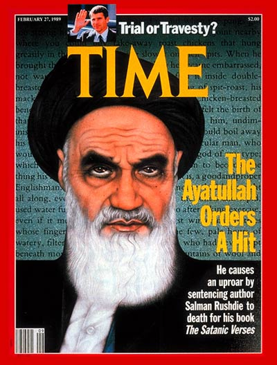 TIME Magazine Cover: Ayatullah Khomeini -- Feb. 27, 1989
