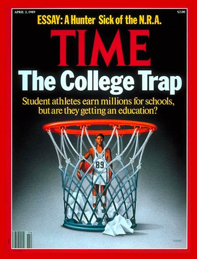 TIME Magazine Cover: Student Athletes and Education -- Apr. 3, 1989