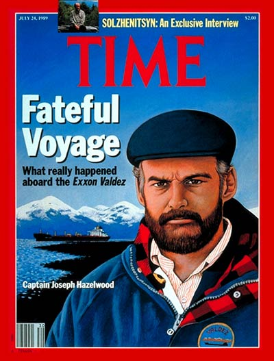 Joseph Hazelwood, captain of the Exxon Valdez, which struck a reef in Alaska's Prince William Sound and leaked 11 million gallons of crude oil