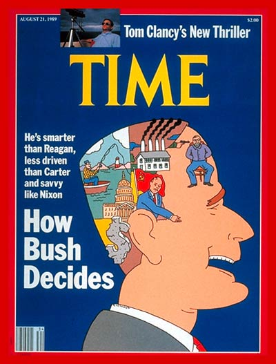 TIME Magazine Cover: George Bush -- Aug. 21, 1989