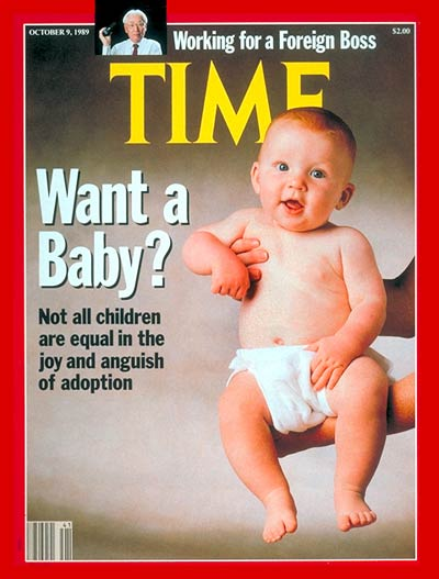 TIME Magazine Cover: Adoption -- Oct. 9, 1989