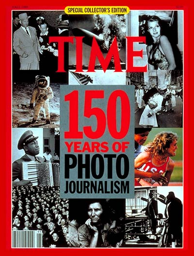 time magazine cover  150 years of photojournalism