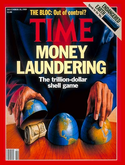 TIME Magazine Cover: Money Laundering -- Dec. 18, 1989