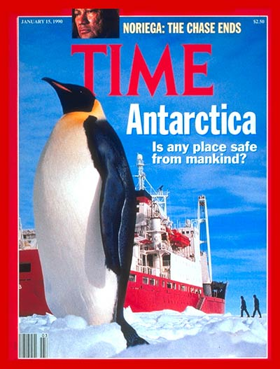 TIME Magazine Cover: Antarctica -- Jan. 15, 1990