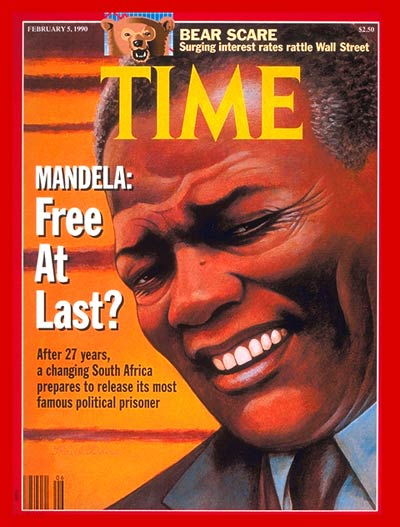 South African political prisoner Nelson Mandela