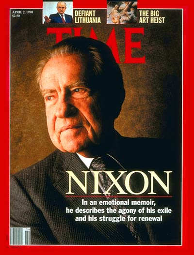 TIME Magazine Cover: Richard Nixon -- Apr. 2, 1990