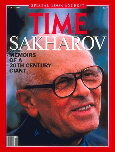 TIME Magazine Cover: Andrei Sakharov -- May 14, 1990