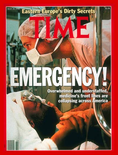 TIME Magazine Cover: Emergency Rooms -- May 28, 1990