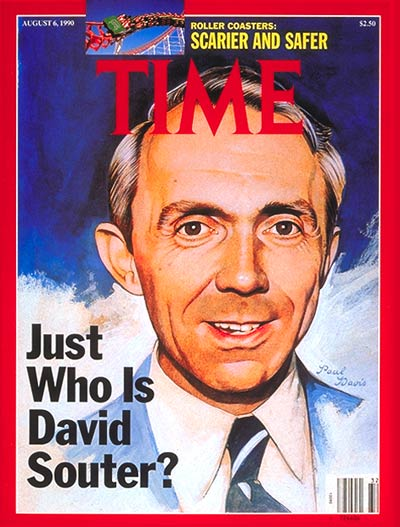 TIME Magazine Cover: David Souter -- Aug. 6, 1990