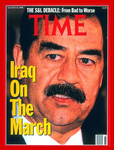 TIME Magazine Cover: Saddam Hussein -- Aug. 13, 1990