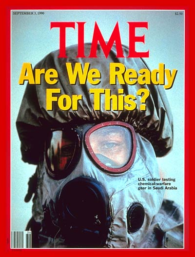 TIME Magazine Cover: GI in Saudi Arabia -- Sep. 3, 1990