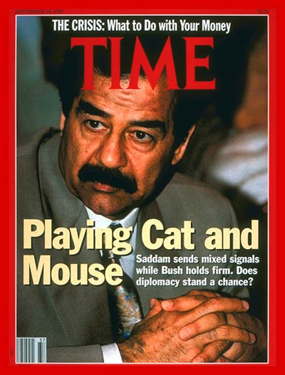 TIME Magazine Cover: Saddam Hussein -- Sep. 10, 1990