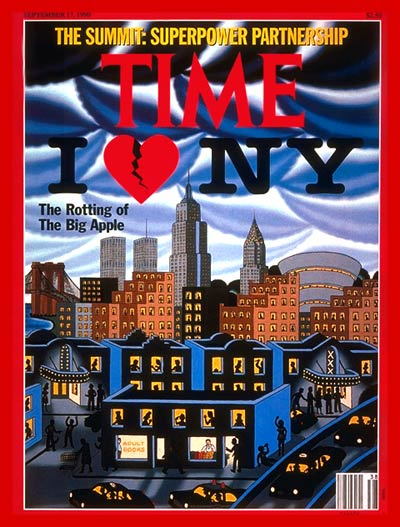 TIME Magazine Cover: New York City -- Sep. 17, 1990
