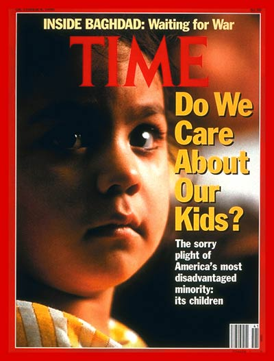 TIME Magazine Cover: America's Children -- Oct. 8, 1990
