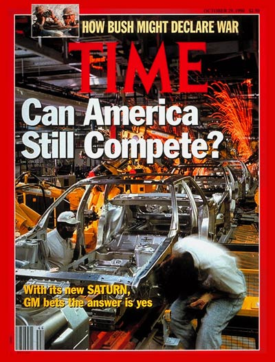 TIME Magazine Cover: GM's Saturn -- Oct. 29, 1990