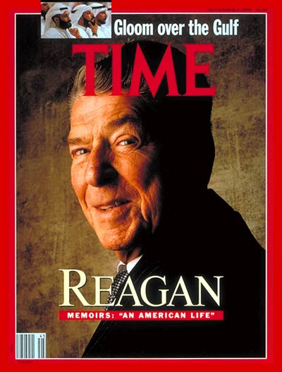 TIME Magazine Cover: Ronald Reagan -- Nov. 5, 1990