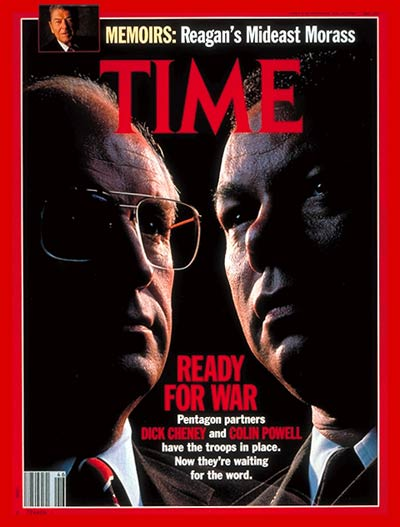 TIME Magazine Cover: Dick Cheney and Colin Powell -- Nov. 12, 1990