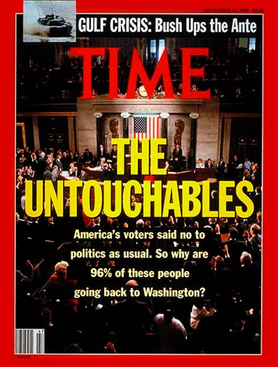 TIME Magazine Cover: U.S. Congress -- Nov. 19, 1990