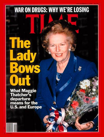 TIME Magazine Cover: Margaret Thatcher -- Dec. 3, 1990