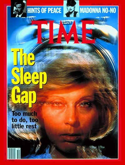 TIME Magazine Cover: Too Little Rest -- Dec. 17, 1990