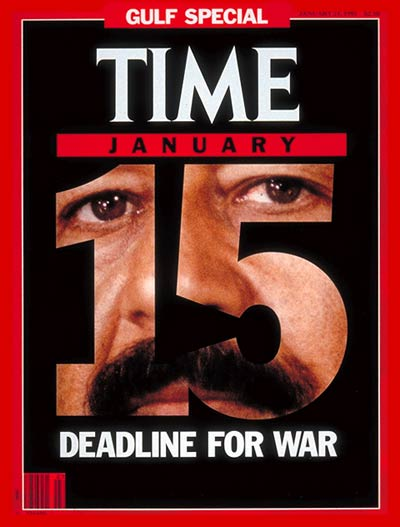 TIME Magazine Cover: Saddam Hussein -- Jan. 21, 1991