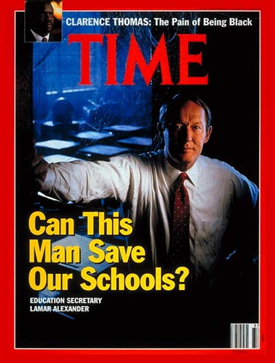TIME Magazine Cover: Lamar Alexander -- Sep. 16, 1991