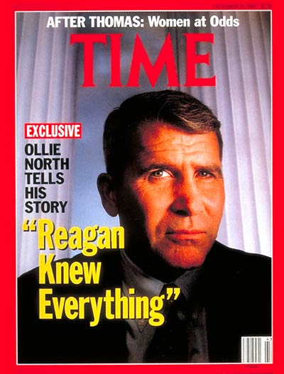 TIME Magazine Cover: Oliver North -- Oct. 28, 1991