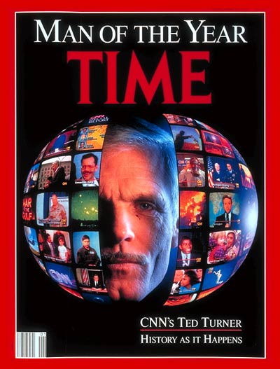 Media Mogul, Ted Turner. Portrait photographed and digitally composed by Gregory Heisler for TIME, with technical support from the Kodak Center for Creative Imaging