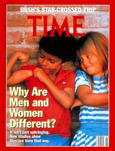 TIME Magazine Cover: Why Are Men and Women Different? -- Jan. 20, 1992