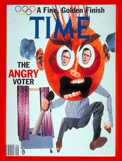 TIME Magazine Cover: Angry Voter -- Mar. 2, 1992
