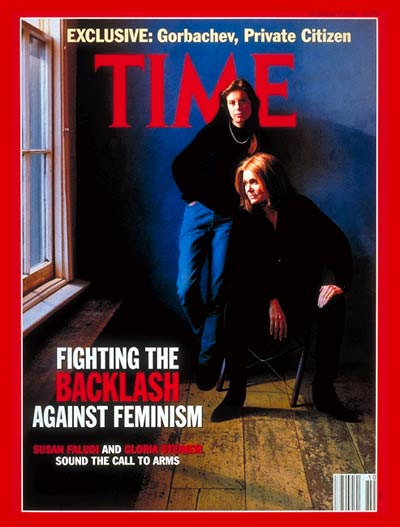 TIME Magazine Cover: Susan Faludi & Gloria Steinem -- Mar. 9, 1992